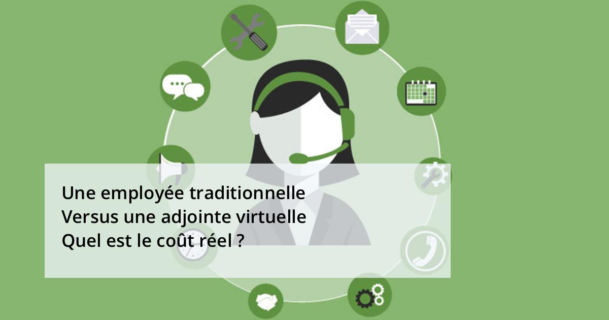 Une employée traditionnelle Versus Une assistante virtuelle – Quel est le coût réel ?